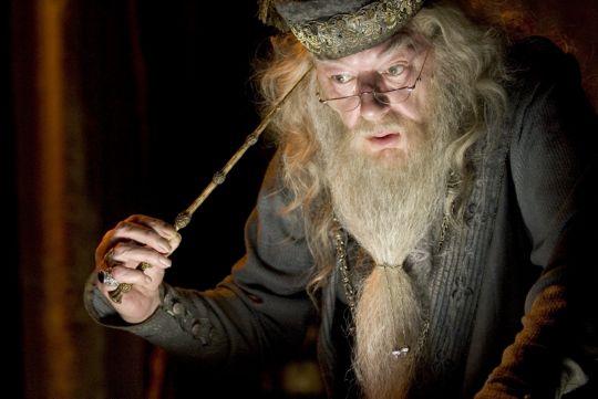 Richard Harris as Dumbledore in Harry Potter