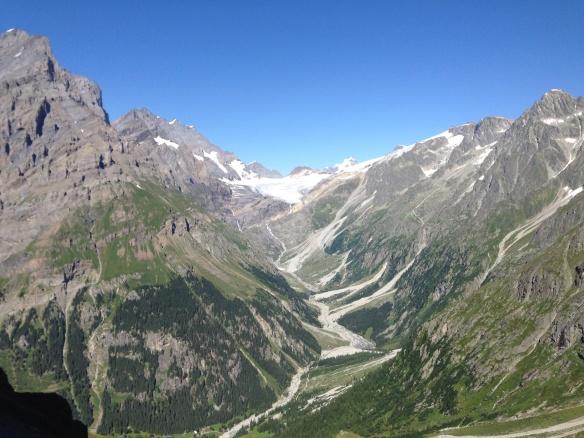 View back to Kanderfirn glacier