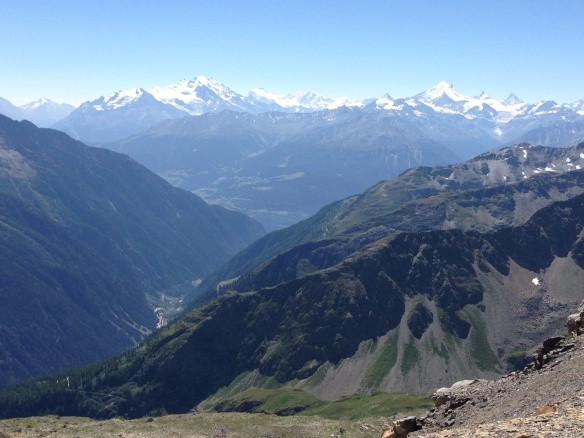 View from 350 meters above Lotschen pass