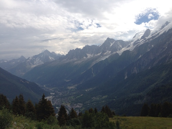 Looking back down the valley towards Chamonix
