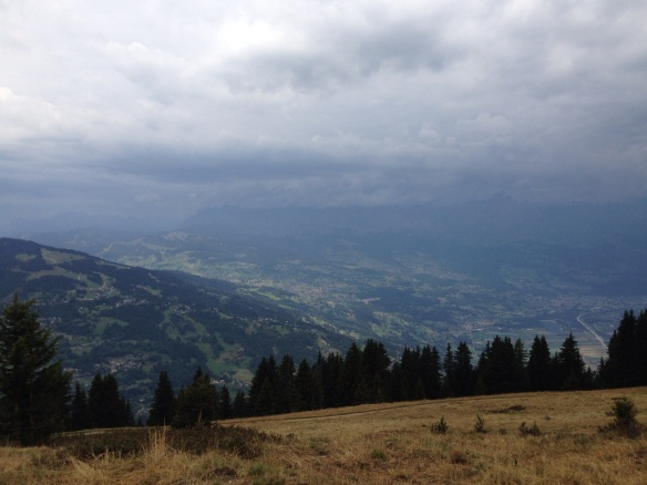 Thunderclouds rolling in our walk to Les Contamines and Nant Borrant, France