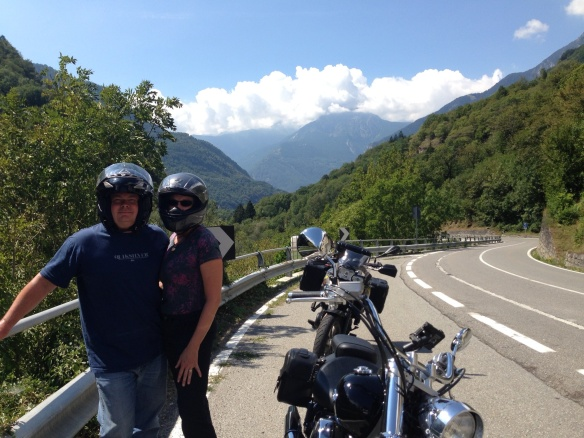 Heading out of Italy north of Lake Como