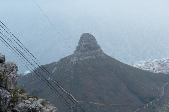 View of Lion's Head from the top of Table Mountain