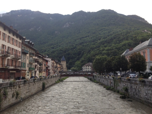 Moutiers, France, gateway to Les Trois Vallees