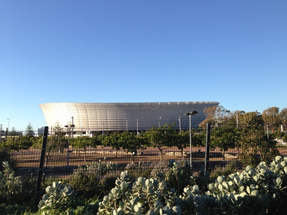 Not for rugby, but Cape Town's Football (soccer) stadium is beautiful!