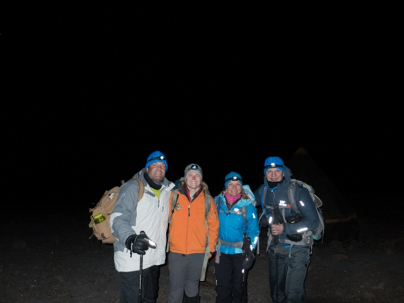 Our 3:00am departure for the summit of Kibo.