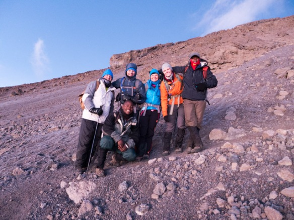 Our summit team including our guides.