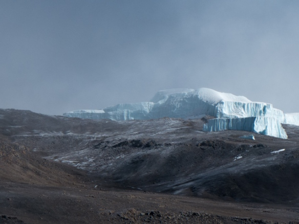 Very unusual looking glaciers...more like 6 story ice cubes.
