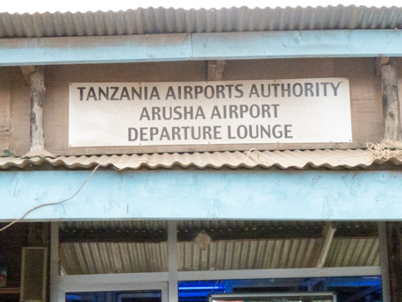 The Arusha Airport departure lounge.