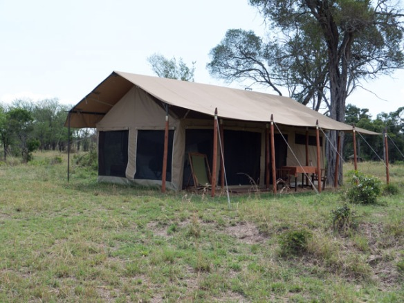 "A view of our ""tent"" at the Wogakurya Camp on the Serengeti."