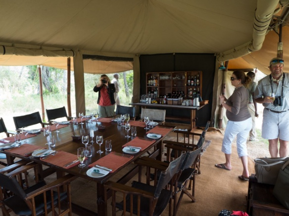 Dining room tent at Wogakurya.
