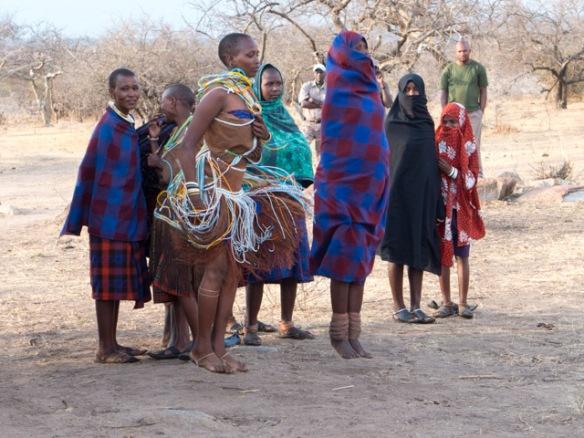 Mang'ati women dancers.