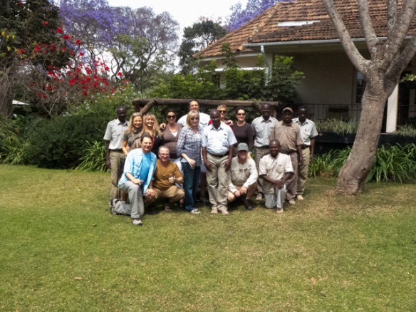 Our Khashana East African Adventure group and the fantastic staff at Legendary Lodge Arusha