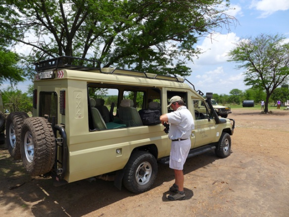 Our safari vehicles awaited us at Kogatende Airstrip.